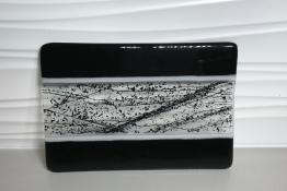 Black Confetti Cheese Plate